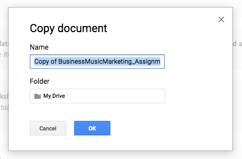 Name your copy of the assignment file provided.